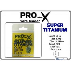 Поводок PRO-X SUPER TITANIUM 1x7 0.300 - 40