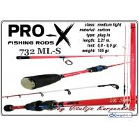 Спиннинг PRO-X VK Series 732 ML-S - 221, 0.8-9