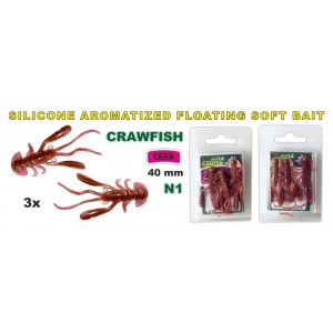 Силиконовая приманка SARGOFISH Raza CRAWFISH CR 40 - 01
