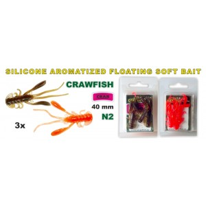 Силиконовая приманка SARGOFISH Raza CRAWFISH CR 40 - 02