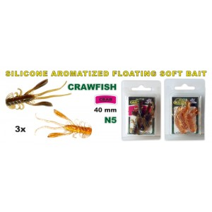 Силиконовая приманка SARGOFISH Raza CRAWFISH CR 40 - 05