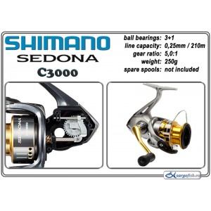Катушка SHIMANO Sedona - C3000