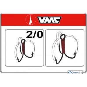 Крючки VMC Treble GRASSFREE BN - 2/0