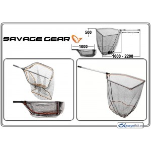 Подсачек SAVAGE GEAR Pro Folding Tele - 65x50