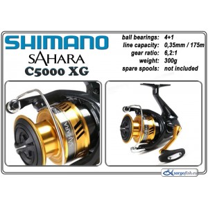 Катушка SHIMANO «Sahara» - C5000 XG