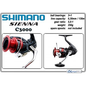 Катушка SHIMANO Sienna - C3000