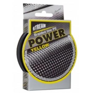 Плетеная леска STREAM Power yellow - 0.08
