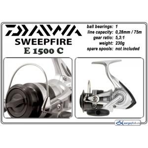 Катушка DAIWA SweepFire E - 1500C