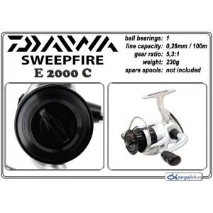 Катушка DAIWA SweepFire E - 2000C