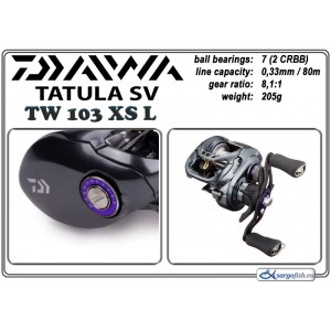 Катушка DAIWA Tatula SV TW - 103XS L