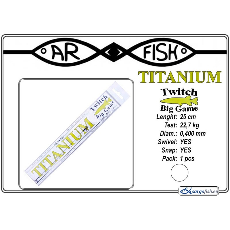 Поводок AR FISH Titanium BIG Game 0.400 - 25