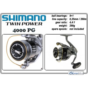 Катушка SHIMANO Twin POWER - 4000 PG