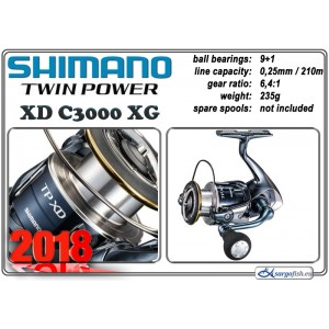Катушка SHIMANO Twin POWER XD - C3000 XG