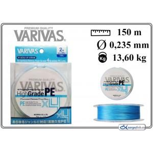 Плетеная леска VARIVAS High GRADE x4 PE blue - 2.0