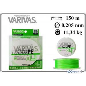 Плетеная леска VARIVAS High GRADE x4 PE green - 1.5