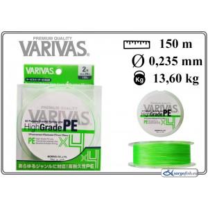 Плетеная леска VARIVAS High GRADE x4 PE green - 2.0