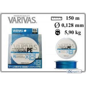 Плетеная леска VARIVAS High GRADE x8 PE - 0.6