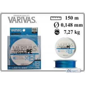 Плетеная леска VARIVAS High GRADE x8 PE - 0.8