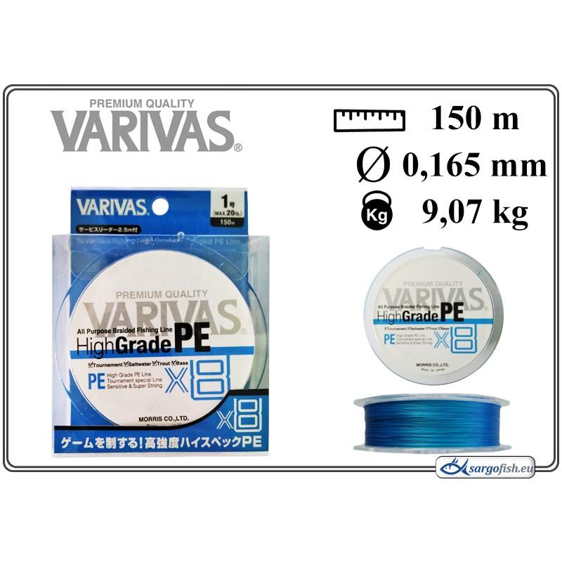 Плетеная леска VARIVAS High GRADE x8 PE - 1.0