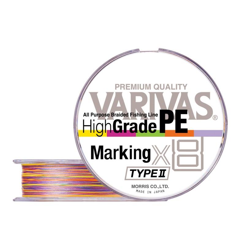 Плетеная леска VARIVAS High GRADE x8 PE type II - 0.6