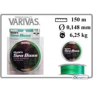 Плетеная леска VARIVAS Sea BASS x8 LS - 0.8