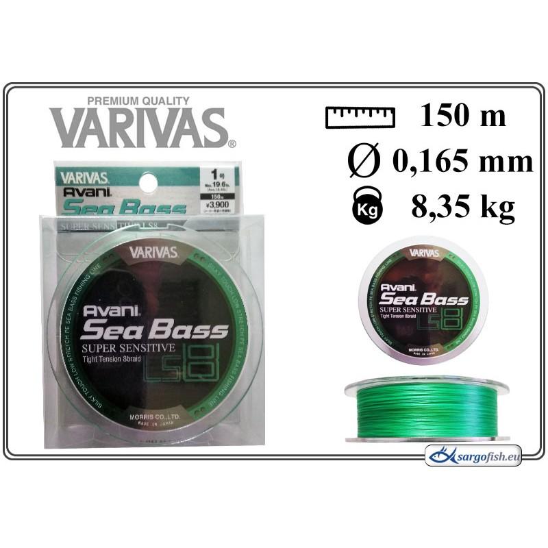 Плетеная леска VARIVAS Sea BASS x8 LS - 1.0