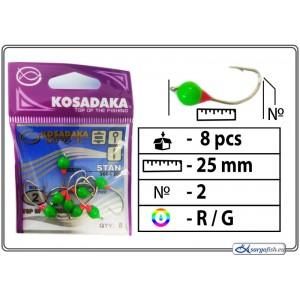 Мормышка K Silver - 2 (RG)