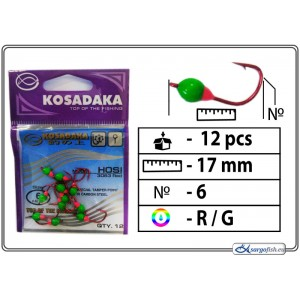 Мормышка K Red - 6 (RG)