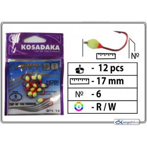 Мормышка K Red - 6 (RW)
