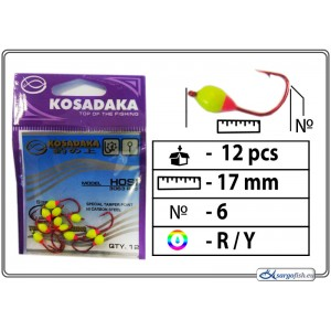 Мормышка K Red - 6 (RY)