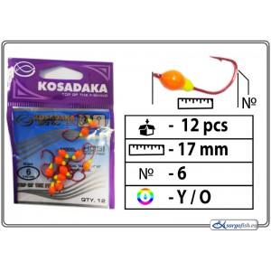 Мормышка K Red - 6 (YO)
