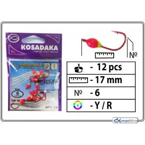 Мормышка K Red - 6 (YR)