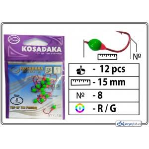 Мормышка K Red - 8 (RG)