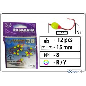 Мормышка K Red - 8 (RY)
