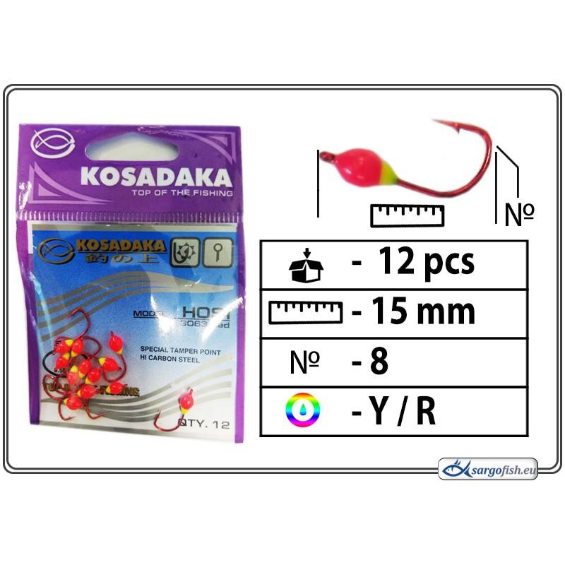 Мормышка K Red - 8 (YR)