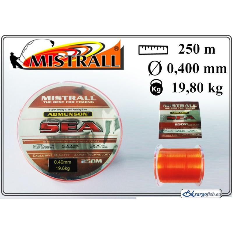 Леска MISTRALL Admunson SEA 250orange - 0.40