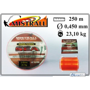 Леска MISTRALL Admunson SEA 250orange - 0.45