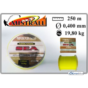 Леска MISTRALL Admunson SEA 250yellow - 0.40