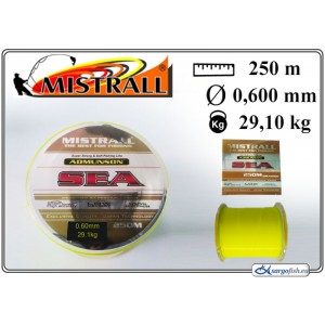 Леска MISTRALL Admunson SEA 250yellow - 0.60