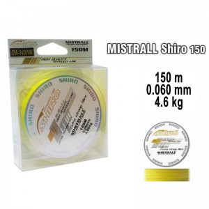 Плетеная леска MISTRALL Shiro yel - 0.06