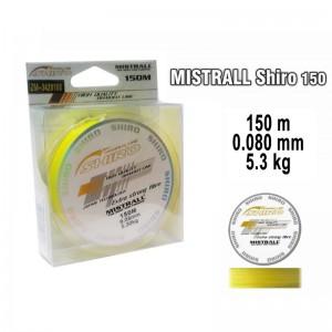 Плетеная леска MISTRALL Shiro yel - 0.08
