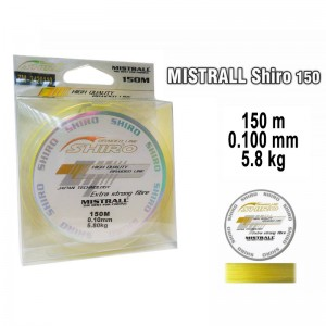 Плетеная леска MISTRALL Shiro yel - 0.10