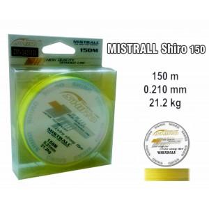 Плетеная леска MISTRALL Shiro yel - 0.21